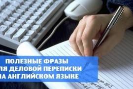 Стандартные фразы, обороты и выражения, использующиеся в деловых письмах и деловой переписке на английском языке